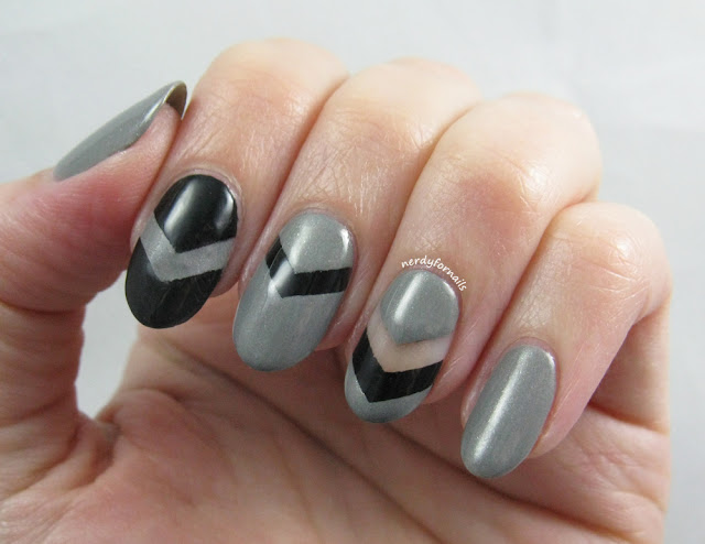Chevron Negative Space Nails