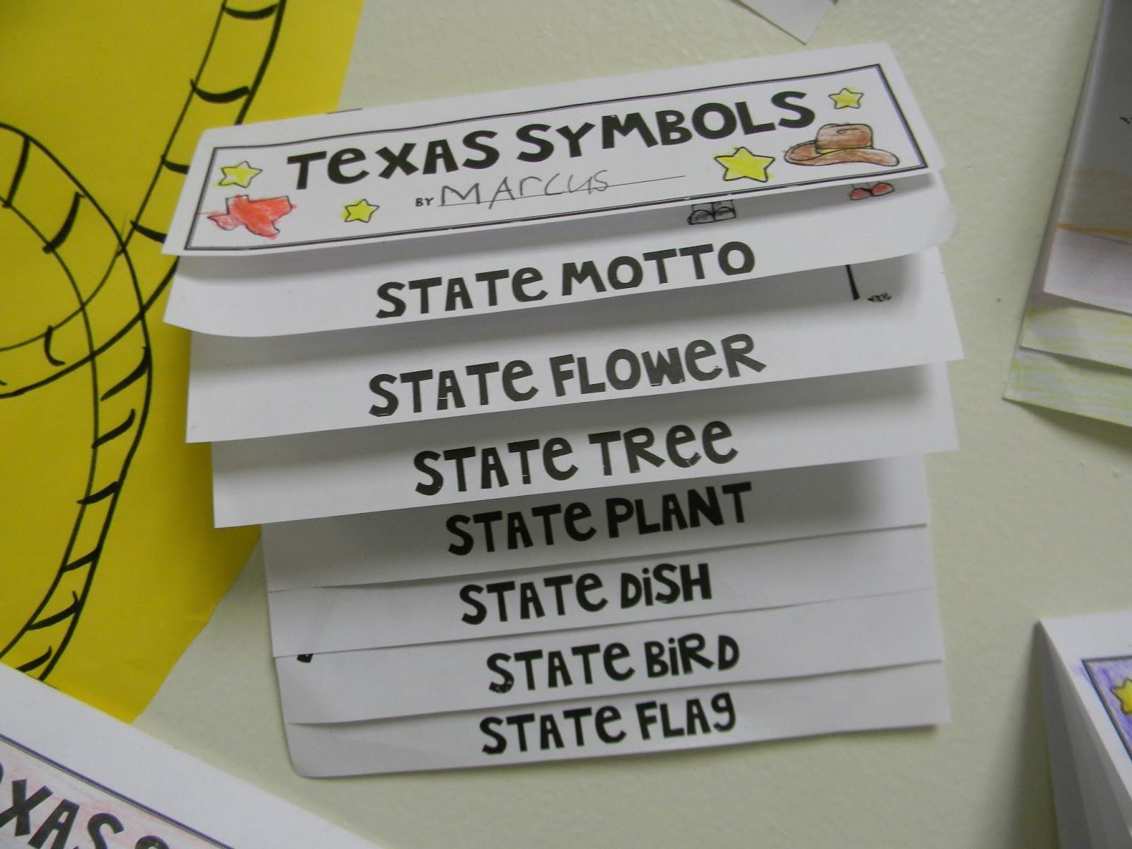The Diary Of A Teachaholic Texas Symbols And A Freebie