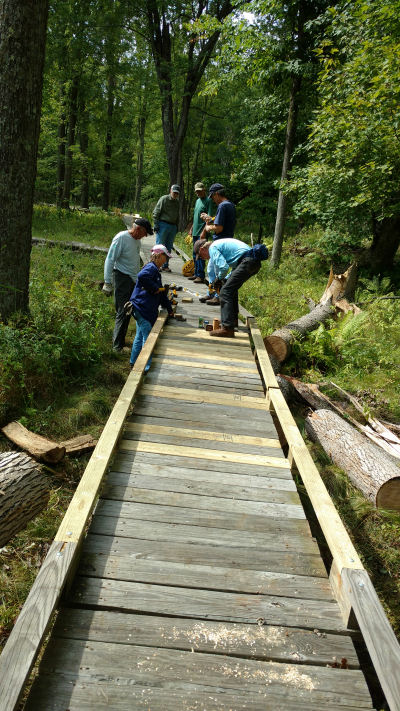 repaired boardwalk