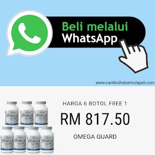 Beli online whatsapp Omega Guard minyak ikan Shaklee 7 botol free