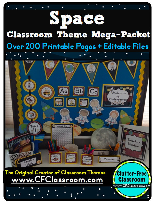 Classroom Theme Ideas For St Grade ~ Space themed classrooms virtual vacation clutter free