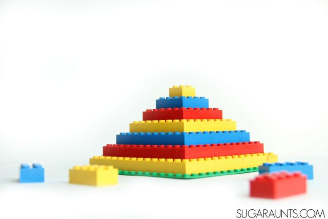 Use Legos in learning: Preschool, Kindergarten, and First grade math and literacy with Legos.  Lots of ideas on this page!  Great tips on the therapeutic benefits of using Legos in Occupational Therapy including fine motor skills, too!