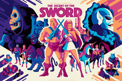 "Masters of the Universe ""He-Man and She-Ra: The Secret Of The Sword"" Honor Variant Screen Print by Tom Whalen x Mad Duck Posters"