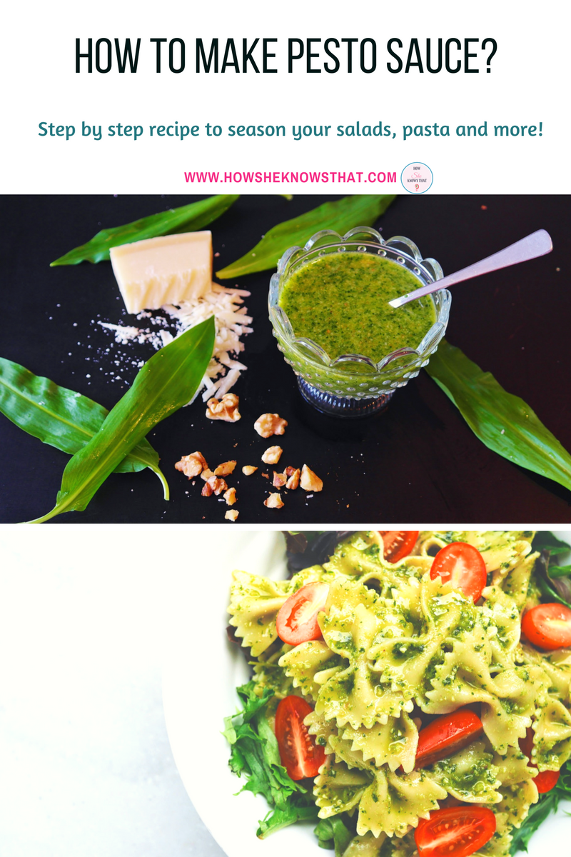 How to make pesto sauce? - www.howsheknowsthat.com - recipes, sauces, how to make pesto sauce