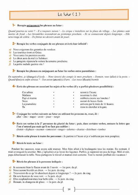 leçons de grammaire 6 aep