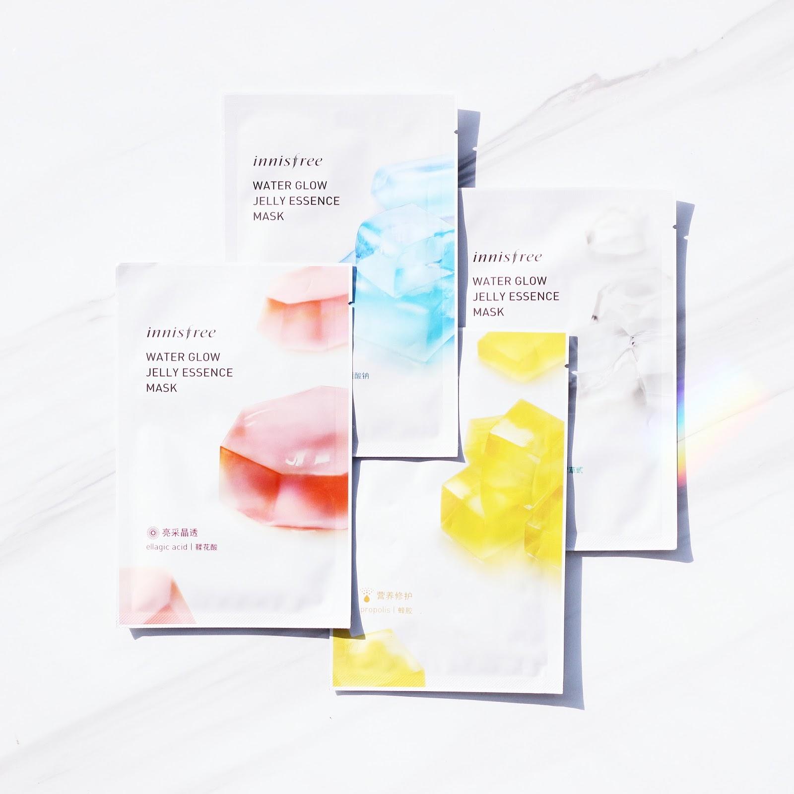 Innisfree Water Glow Jelly Essence Mask Review 悦诗风吟 水光果冻面膜
