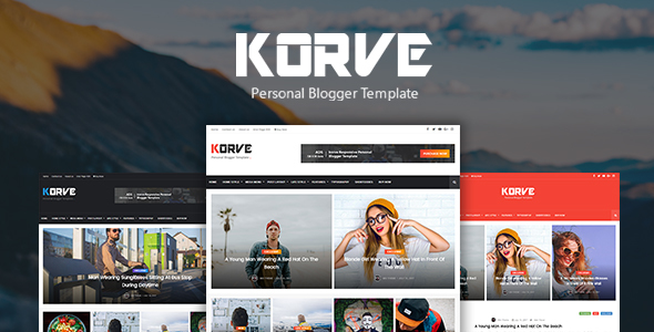 Korve - Personal Blogger Template
