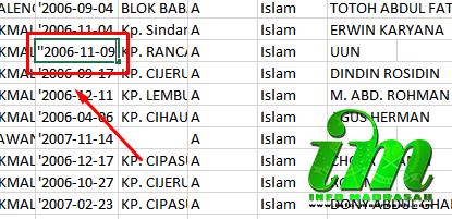"""Mengatasi Tanggal Lahir Siswa Pada Template Capesun E-Manja - E-Manja diluncurkan sebagai aplikasi tambahan untuk menghandle pendataan peserta UN atau Calon Peserta UN (Capesun). Yang berbasis dari database Emis. E-manja atau Emis Manajenem Ujian Nasional ini satu server dengan Emi Madrasah. Dihadirkannya aplikasi E-Manja sendiri untuk mengatasi membeludaknnya user yang menggunakan Emis Madrasah dan yang membuat Emis Madrasah sering terjadi eror karena overload user. Namun, E-Manja sendiri hanya dikhususkan untuk pendataan Capesun saja, karena telah mendekati semester genap.    Dalam pengerjaan Capesun di E-Manja ini dibagi menjadi dua gelombang, yang pertama untuk Tinkat MA dan MTs dan gelombang tarkhir yaitu untuk Tingkat MI. Pengerjaan Capesun di E-Manja atau Emis Manajemen Ujian Nasional ini, cukup mudah namun agak ribet juga. Mudah, karena pengerjaanya hanya fokus untuk pendataan Capesun saja, tidak berbelit-belit kemana-mana. Nah untuk yang Ribetnya yaitu pengerjaan pada Template Capesun yang kita unduh dari E-Manja dan proses uploading file Template ke E-Manja terkadang lama, bahkan terjadi error.    Seperti yang telah dijelaskan di judul postingan yaitu """"Mengatasi Tanggal Lahir Siswa Pada Template Capesun E-Manja"""", disini mimin akan berbagi pengalaman dan solusi dalam mengatasi hal tersebut. Perlu anda ketahui dalam tempalate Capesun ini terkadang data bisa berubah sendiri ketika sesudah dilakukan edit, dan ini terjadi kebanyakan pada proses edit Tanggal Lahir Siswa, NISN, Rombel, dan semua hal yang berhubungan dengan angka pada template.    Contoh perubahan data yang terdapat pada template Capesun E-Manja:     1. Ini terjadi pada saat edit Tanggal Lahir Siswa. Dalam template Capesun tanggal lahir siswa berformat yyyy-mm-dd. Misal : '2006-11-10 (dengan tanda petik diatasnya). Nah, ketika tanggal lahir siswa ternyata salah, maka dilakukan edit, jadi 2006-11-10 (tanpa tanda petik diatasnya). Apakah data itu akan tersave dengan sesuai harapan? Ohhh... tentu tid"""