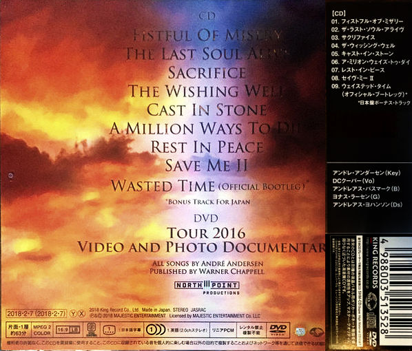 ROYAL HUNT - Cast In Stone [Japanese Edition] (2018) back