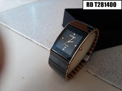 Đồng hồ Rado dây đá ceramic vàng RD T281400