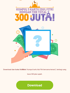 Dapat Uang THR Senilai 1 JUTA Gratis Hanya Dengan Download Aplikasi Vidmatefun