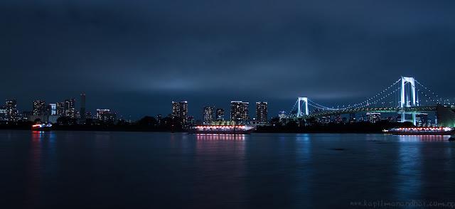 Beautiful night at Rainbow Bridge, Odaiba, Tokyo  お台場での一夜 レインボーブリッジ、東京