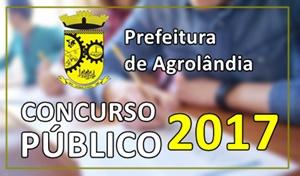 Concurso Prefeitura de Agrolândia 2017