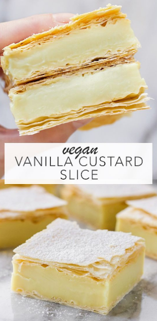 VEGAN VANILLA CUSTARD SLICE