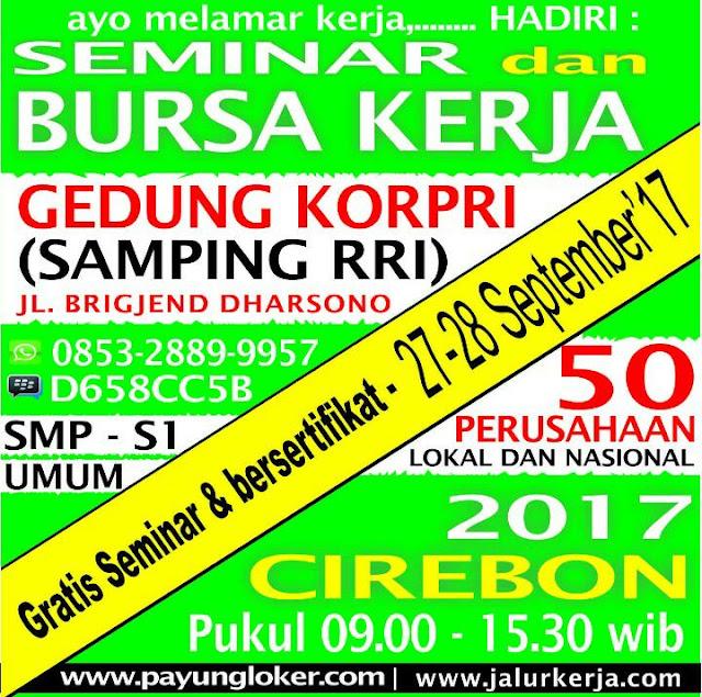 Joba Fair Cirebon, 27-28 September di Gedung Korpri Kota Cirebon