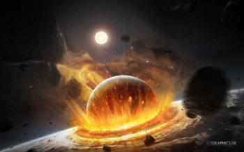 Wallpaper: Planets, Asteroids, Meteorites