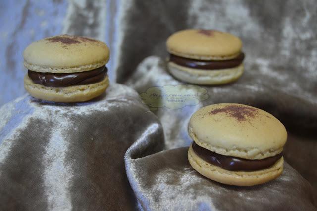 macarons de vainilla y nutella