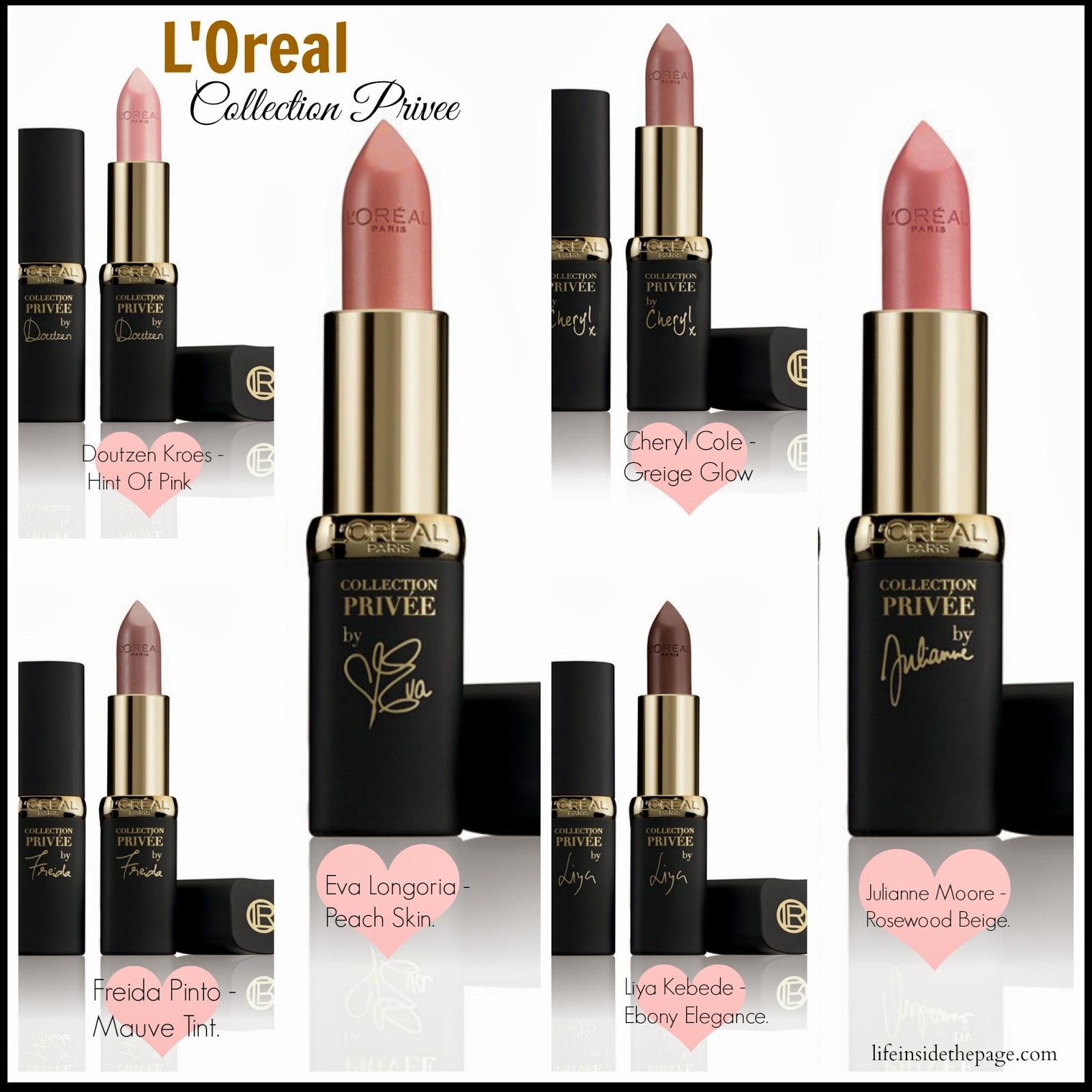 6 Shades of Nude: LOreal Collection Privee Lipstick
