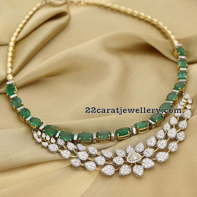 Diamond Emerald Classic Necklaces