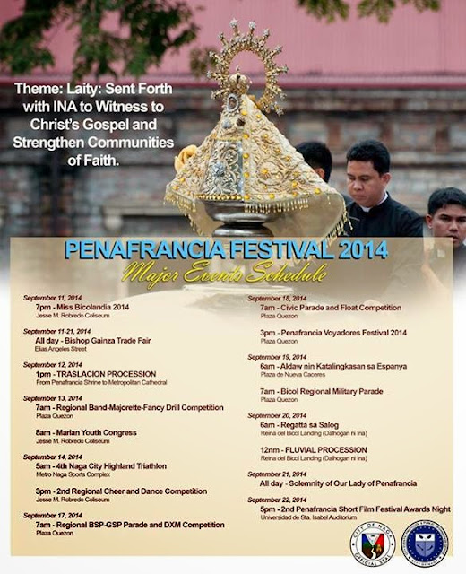 Peñafrancia Festival 2014 Schedule of Events and Activities