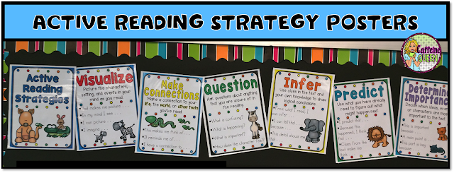 Reading Strategy Posters - Reading Skills Reference Posters