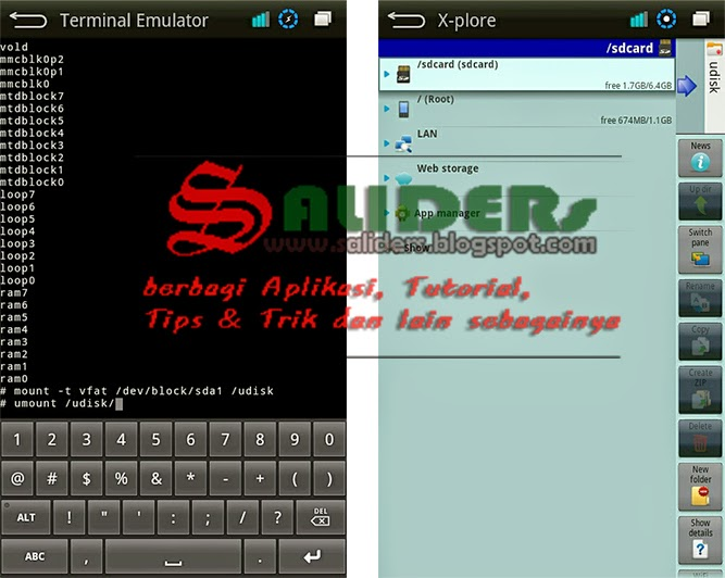eject flashdisk di android, SALIDERs