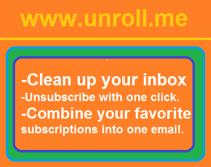 Get Rid of Spam Emails at one click Keep inbox clean use Unroll.me