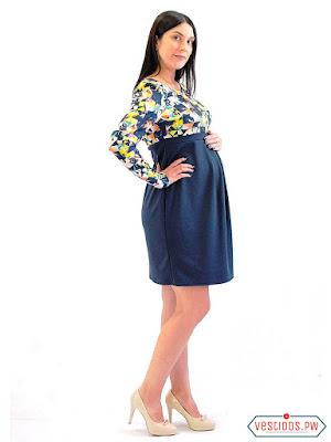 vestidos para embarazadas con escote
