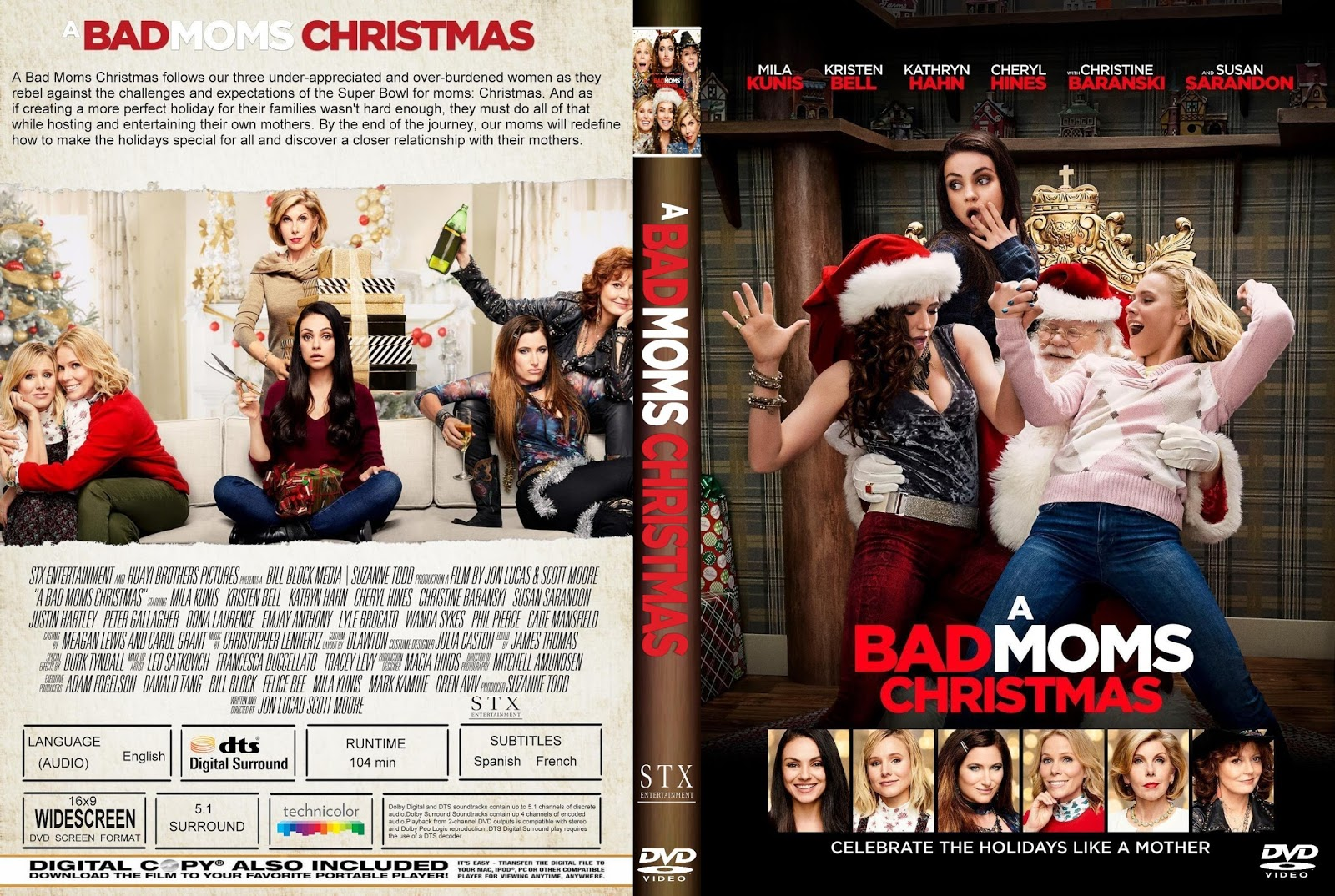 A Bad Moms Christmas Movie Poster.A Bad Moms Christmas Dvd Cover Cover Addict Free Dvd