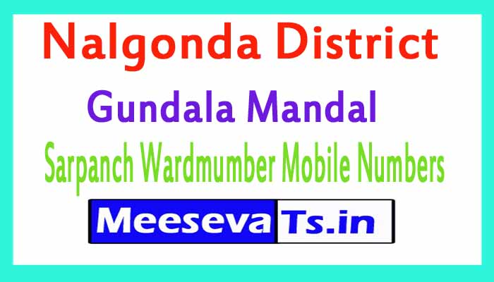 Gundala Mandal Sarpanch Wardmumber Mobile Numbers List Part I