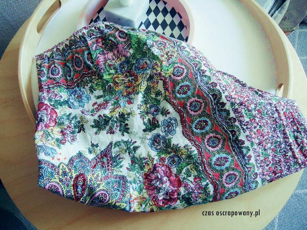 DIY ze spódnicy, co zrobiłam ze spódnicy, obraz ze spódnicy