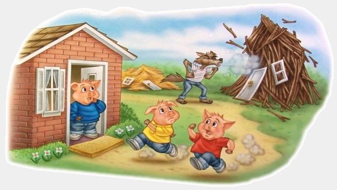 I tre porcellini - Fratelli Grimm