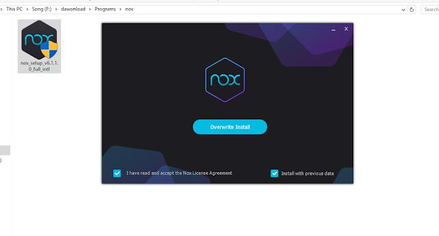 nox instal