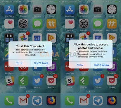 Cara Memindahkan Foto dari iPhone ke PC/Laptop - izinkan