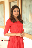Actress Lavanya Tripathi Latest Pos in Red Dress at Radha Movie Success Meet .COM 0037.JPG