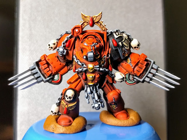 Brother Claudio with lightning claws, nearly done.
