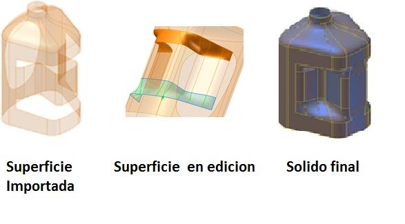 Edición de Superficies y conversión a sólidos