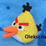 patron gratis pajaro amarillo angry bird amigurumi, free amiguru pattern yellow bird angry bird