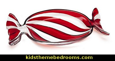Peppermint Candy Wrapper Dish  candy Christmas theme decorating - candy themed christmas decorations - christmas candyland decorations -  candy ornaments -  candy shaped holiday ornaments - candy themed Christmas decor -