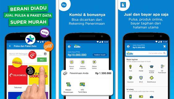 Kudo Aplikasi Android Jualan Pulsa Terbaik dan Termurah