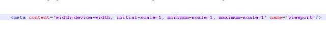viewport meta tag