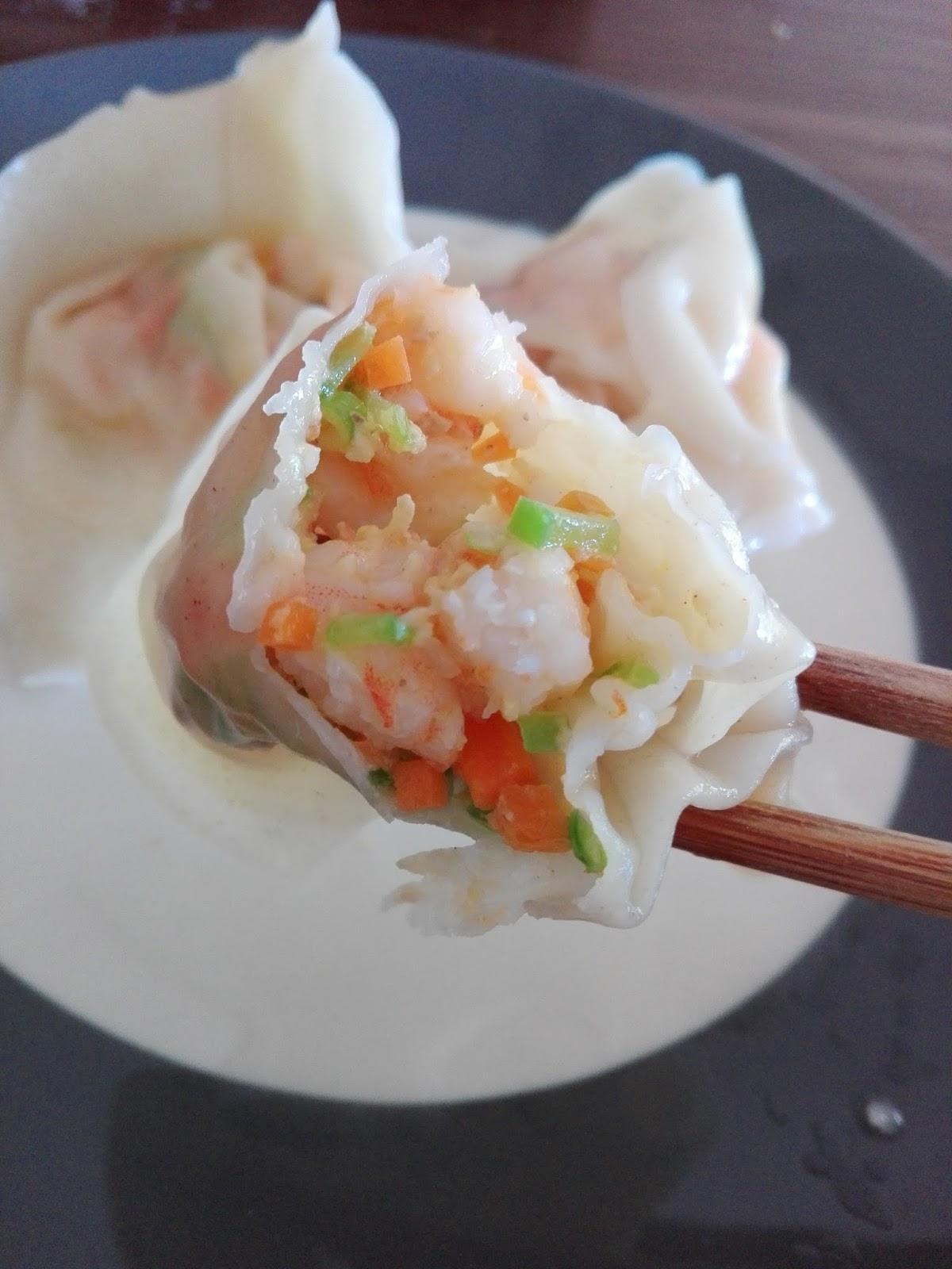 Recettes D Une Chinoise Wonton Aux Crevettes 鲜虾馄饨