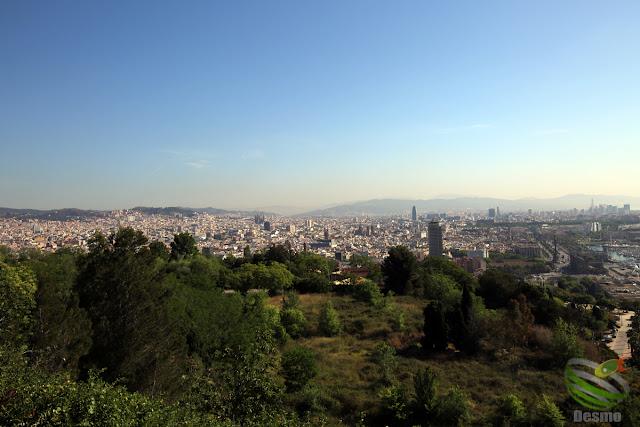 バルセロナ- モンジュイックの丘から