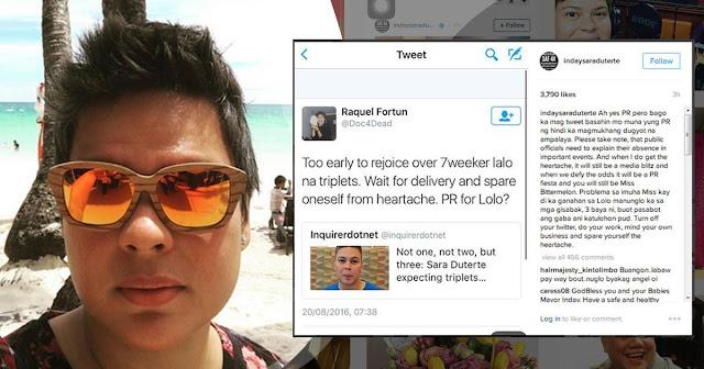 "Inday fires back ""bitter"" netizen on her pregnancy"