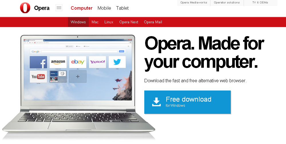 Explore Opera for computers