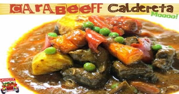 Carabeef Caldereta (Carabao Beef) Recipe