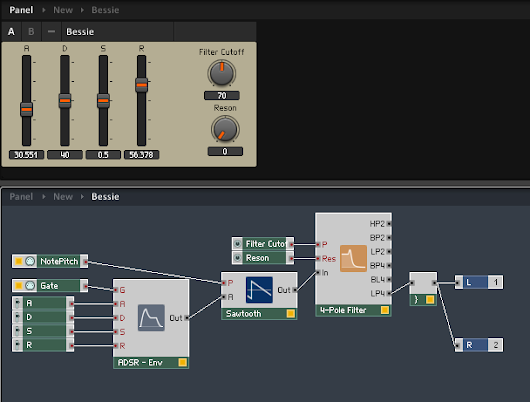 Building a Custom Synthesizer in Reaktor part 5: Selectable Oscillators