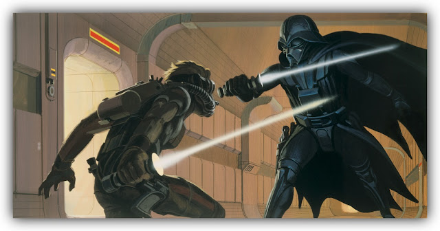 Duel between Luke Skywalker and Darth Vader