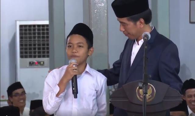 Kocak, Lihat Jawaban Anak Ini, Presiden Jokowi Saja Tidak Bisa Nahan Ketawa