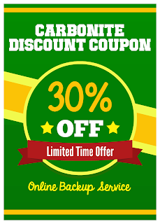ENJOY EXTRA SAVINGS ON PURCHASE OF ONLINE BACKUP SERVICES WITH CARBONITE